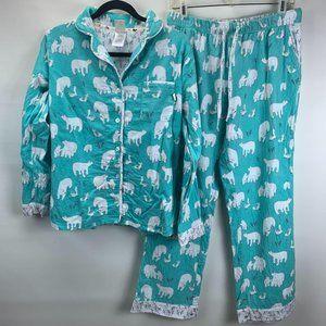 Munki Munki Pajama Set S Flannel Top & Pants